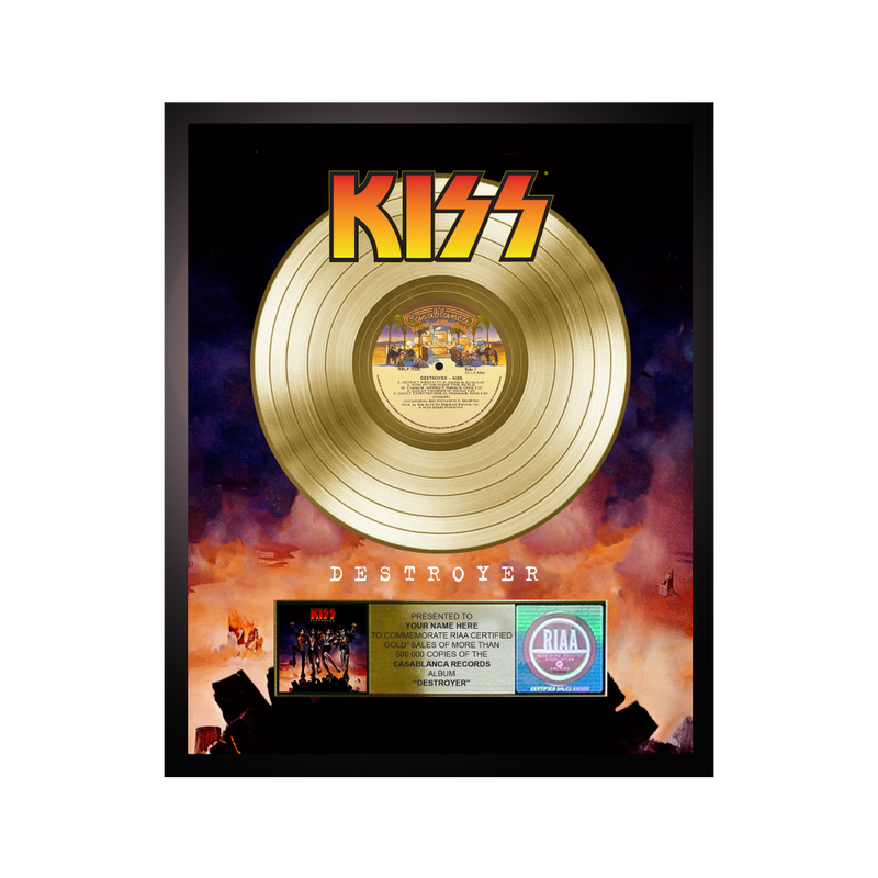 Personalized Destroyer Gold Record Award