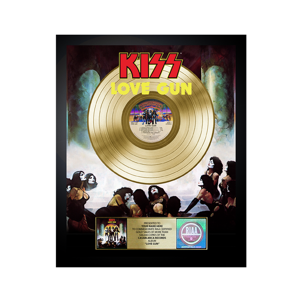 Personalized Love Gun Gold Record Award