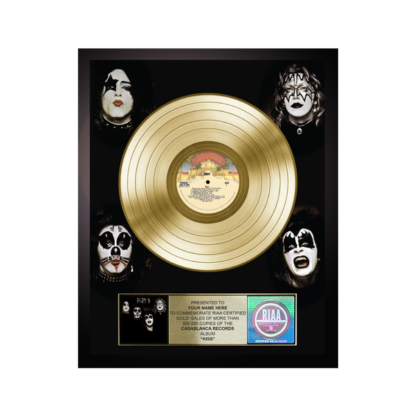 Personalized KISS Gold Record Award