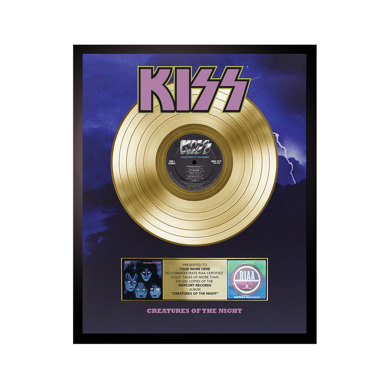 Personalized Creatures of the Night Gold Record Award