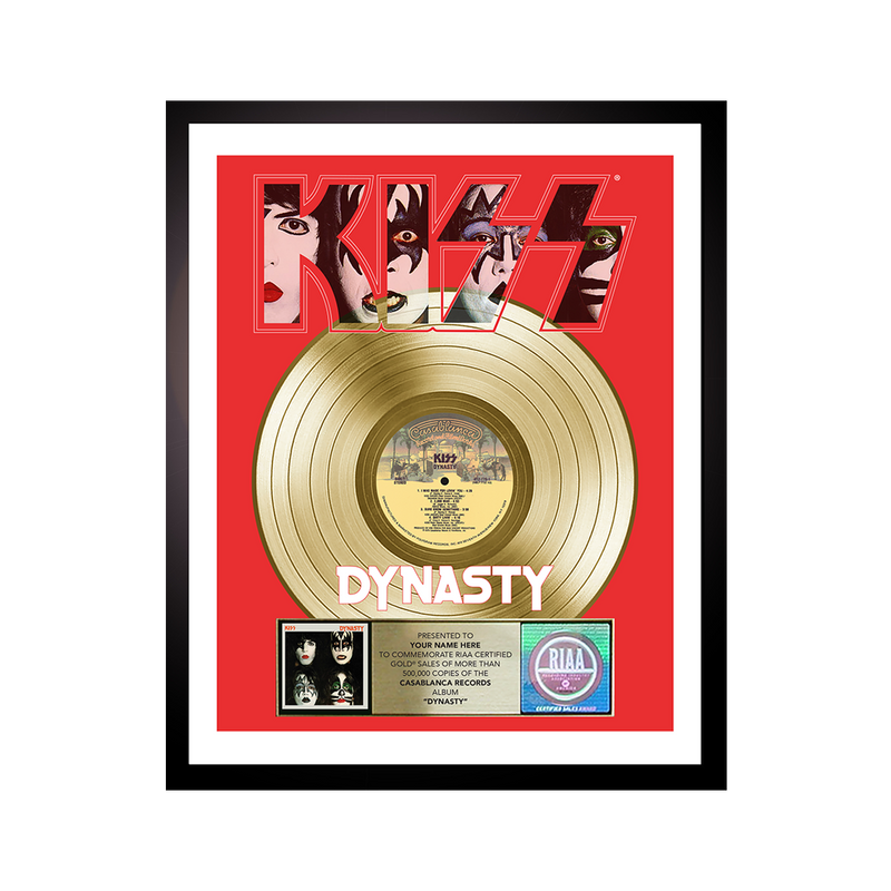 Personalized Dynasty Gold Record Award