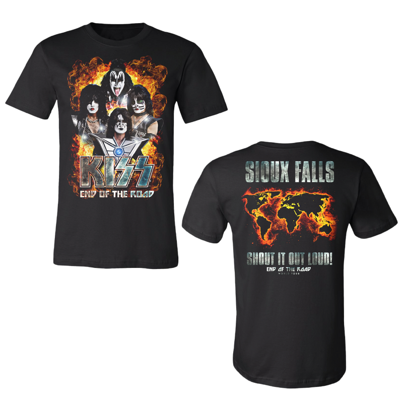 KISS T-Shirt Hell Skulls End of the Road