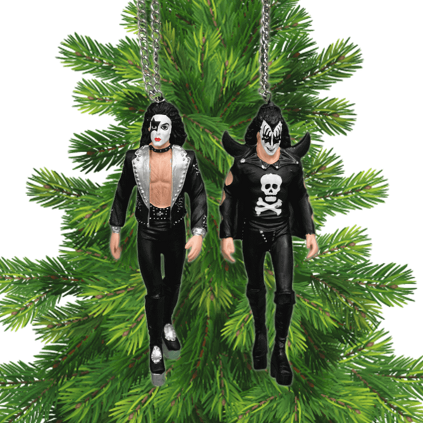 Gene and Paul KISSmas Ornaments