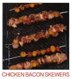 Salsa Queen Chicken Bacon Skewers