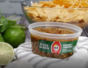 Roasted Tomatillo - Salsa Queen