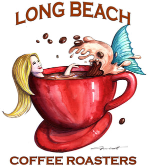 Long Beach Coffee Roasters logo by Don Nisbett