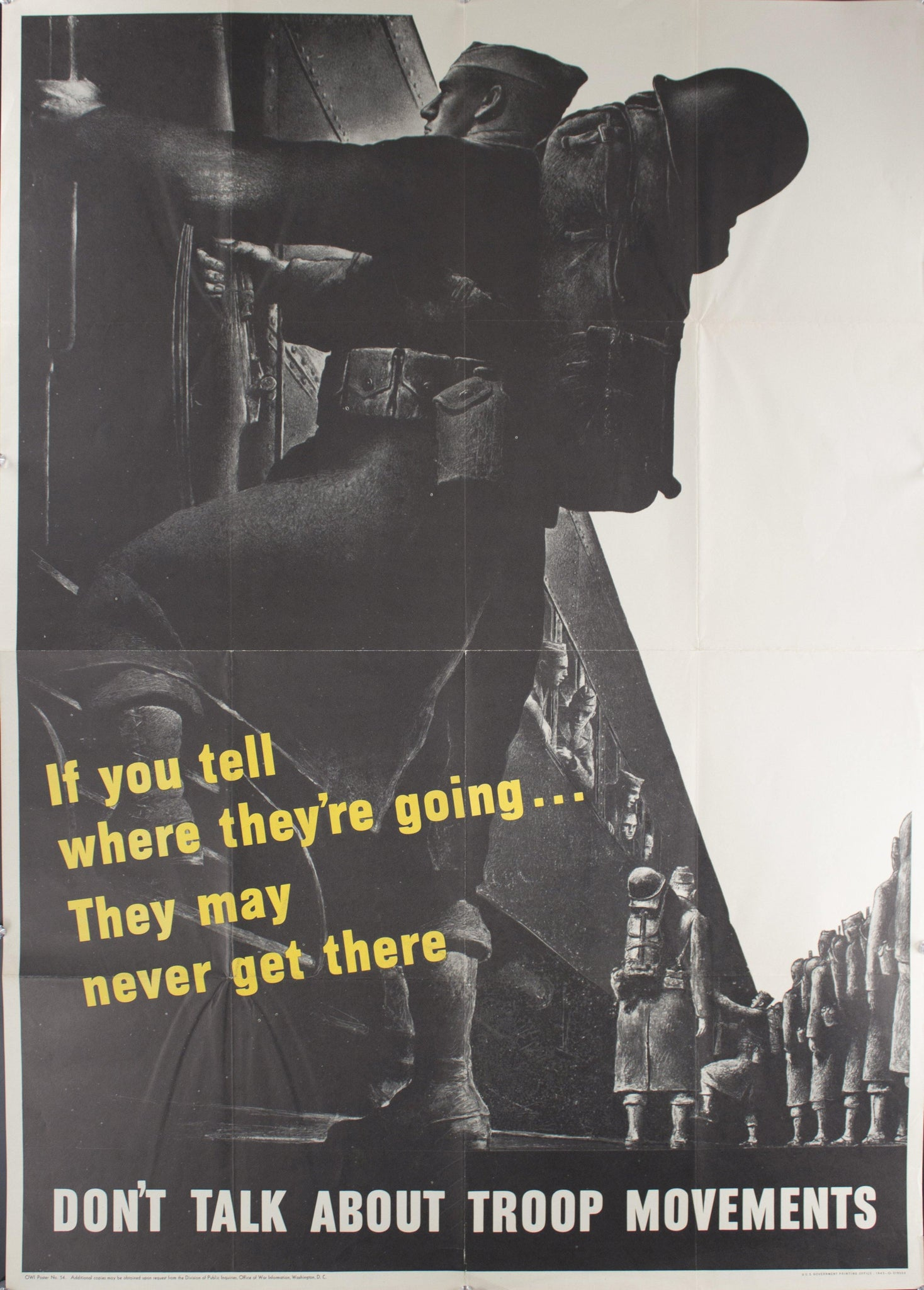 1943 If You Tell Where They're Going…They May Never Get There - Don't Talk About Troop Movements
