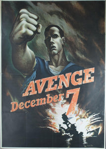 1942 Avenge December 7 by Bernard Perlin - Golden Age Posters