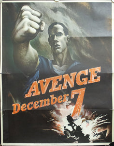 1942 Avenge December 7 by Bernard Perlin 28 X 22
