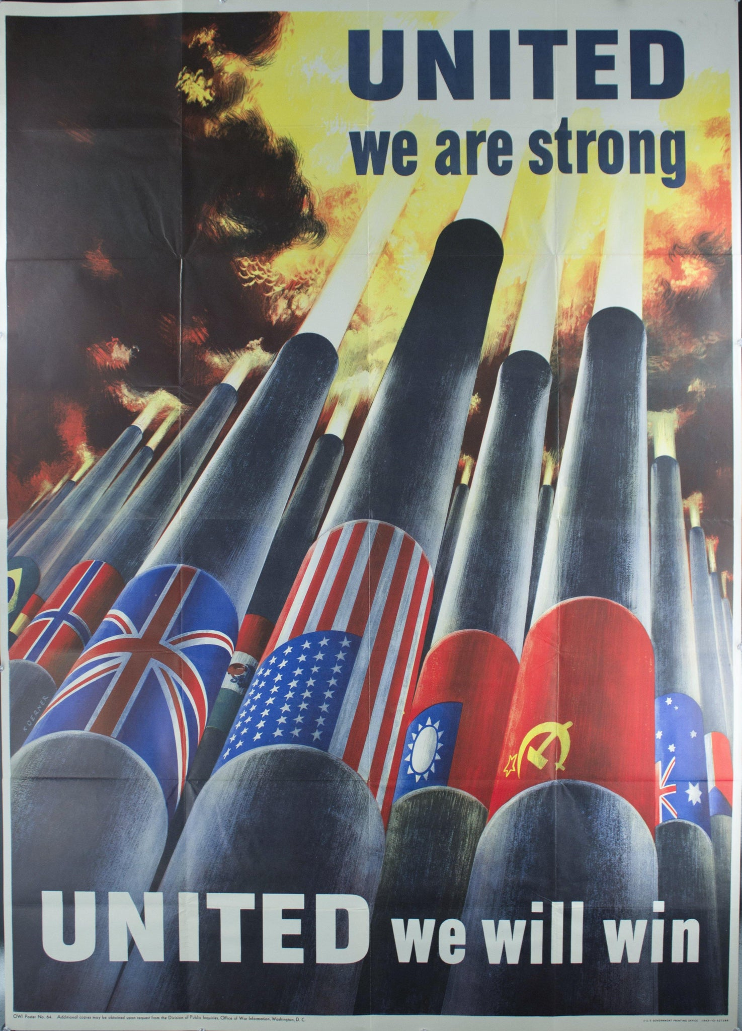 1943 United We Are Strong - United We Will Win