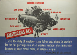 1942 Americans All War Manpower Commission - Golden Age Posters