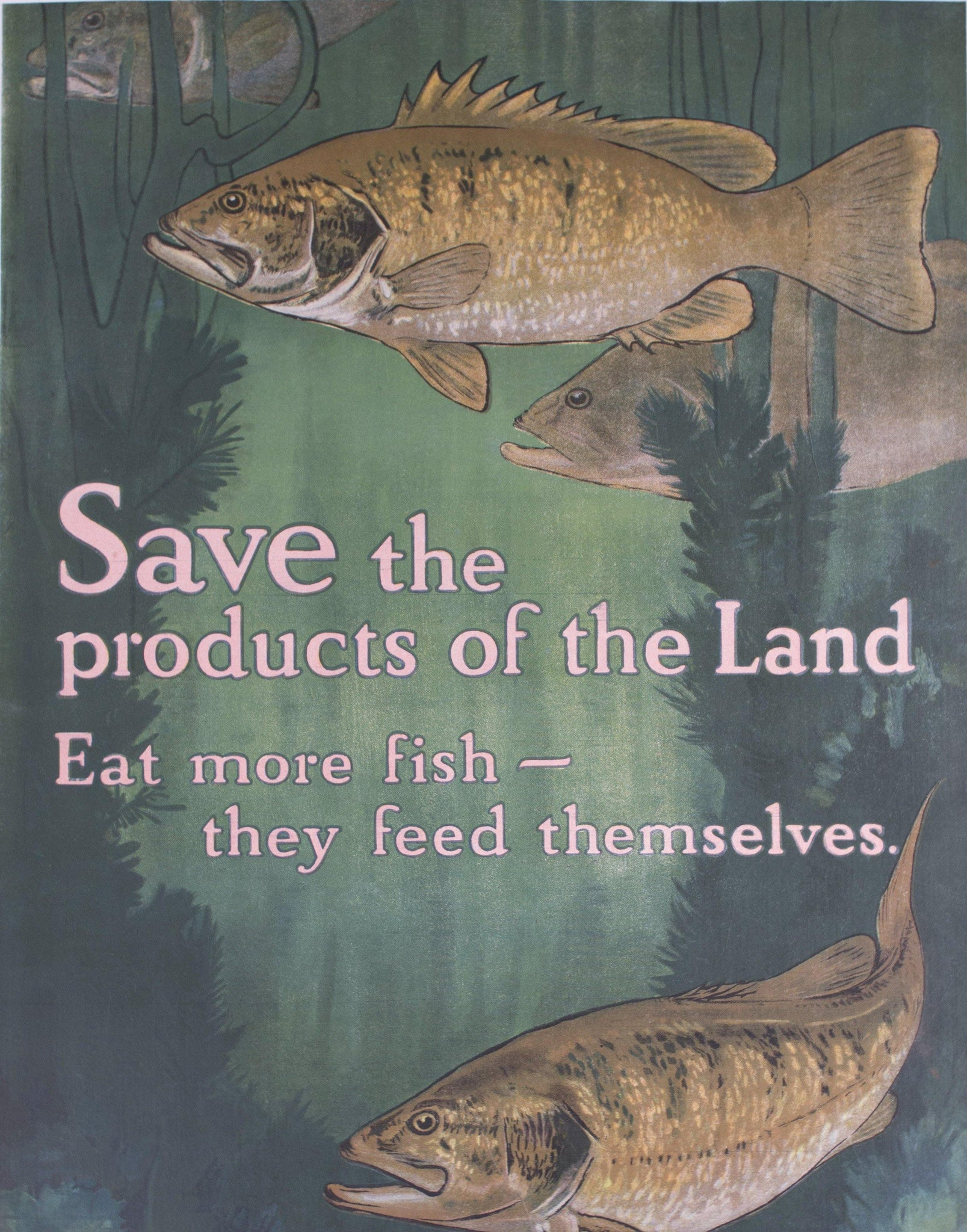 1917 Save the Products of the Land | Eat More Fish