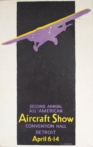 1929 Detroit | Second Annual All-American Aircraft Show - Golden Age Posters