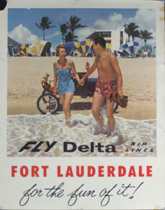 c. 1960 Fort Lauderdale For the Fun of It! | Fly Delta Air Lines