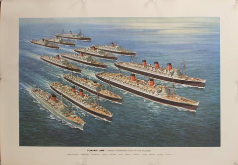 c. 1958 Cunard Line | Largest Passenger Fleet on the Atlantic