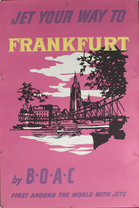 c. 1958 Jet Your Way to Frankfurt by BOAC | First Around the World with Jets