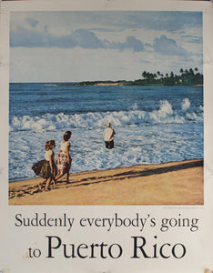 c. 1959 Suddenly everybody's going to Puerto Rico | Surf Fishing Off Dorado Beach