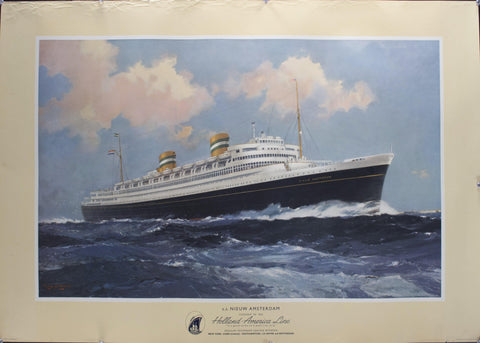 1950 S.S. Nieuw Amsterdam | Flagship of the Holland-America Line