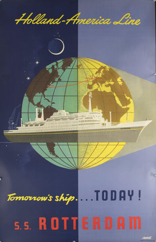 c. 1955 Holland-America Line | Tomorrow's Ship…Today! S.S.Rotterdam