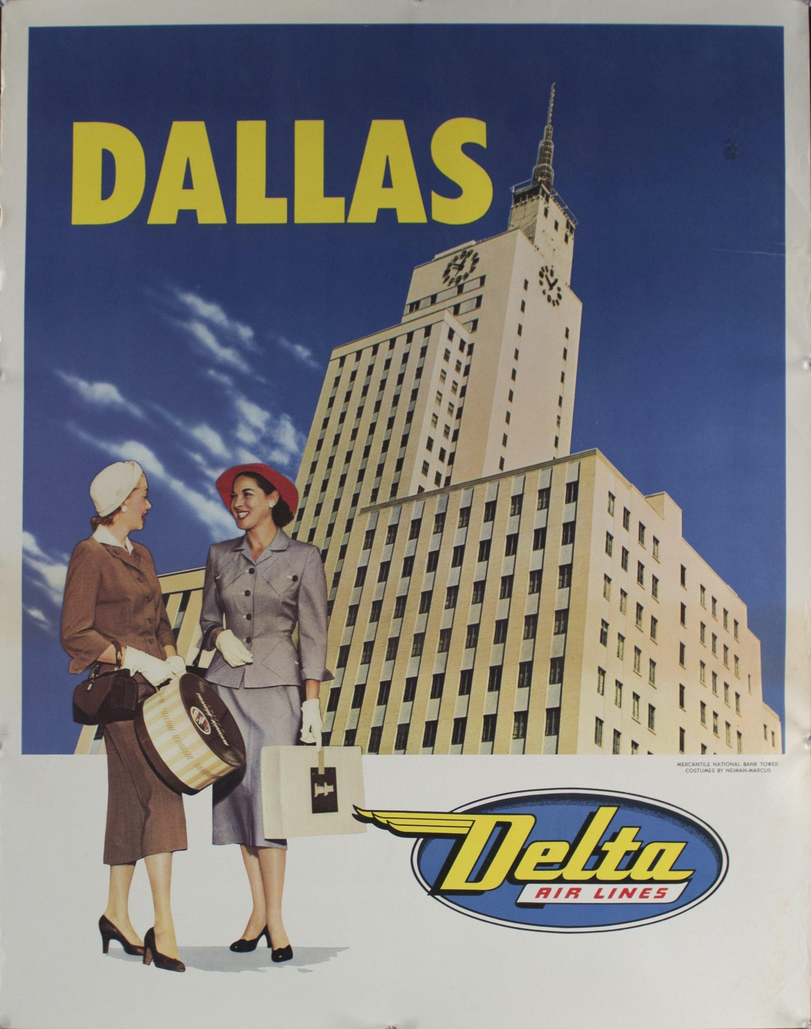 c. 1950 Dallas | Delta Air Lines | Mercantile National Bank Tower
