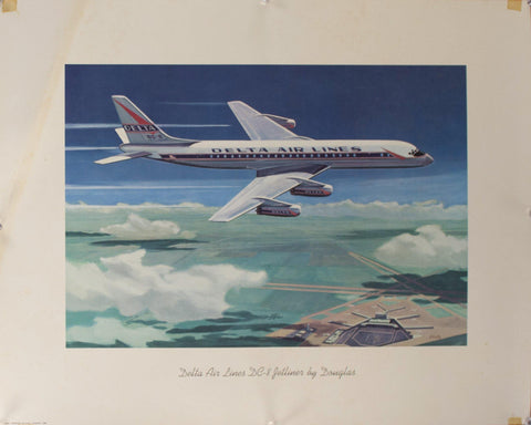 1959 Delta Airlines DC-8 Jetliner by Douglas