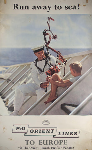 c. 1959 Run Away at Sea! | P&O Orient Lines to Europe