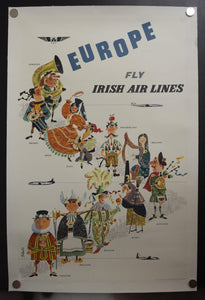 c.1958 Fly Irish Air Lines To Europe by Piet Sluis Ireland