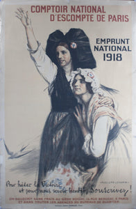 1918 Comptoir National D'Escompte de Paris - Golden Age Posters