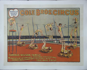 c. 1920 Cole Bros. Circus | Famous Nelson Family | Miracles of Action and Infallible Calculations