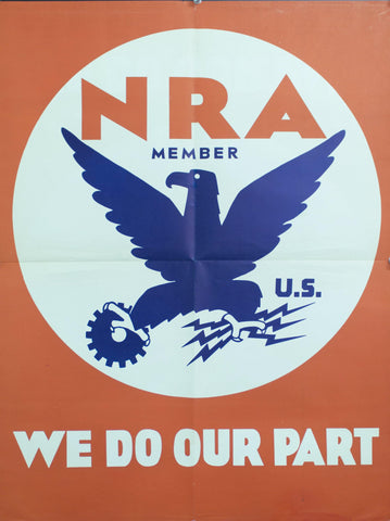 1934 NRA Member | U.S. | We Do Our Part - Golden Age Posters