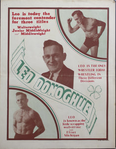 c. 1930 Leo Donoghue | Leo is today the foremost contender for three titles