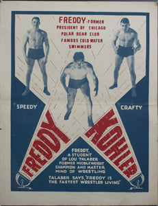 c. 1930 Freddy Kohler | Former President of Chicago Polar Bear Club Famous Cold Water Swimmers