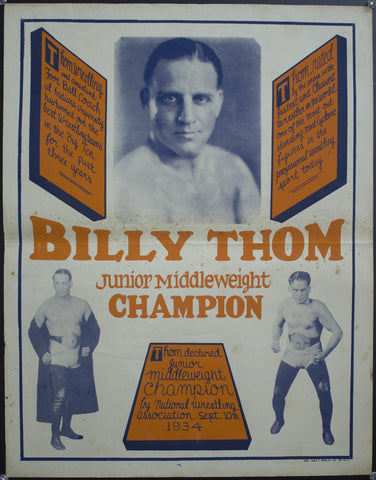 c. 1930 Billy Thom | Junior Middleweight Champion