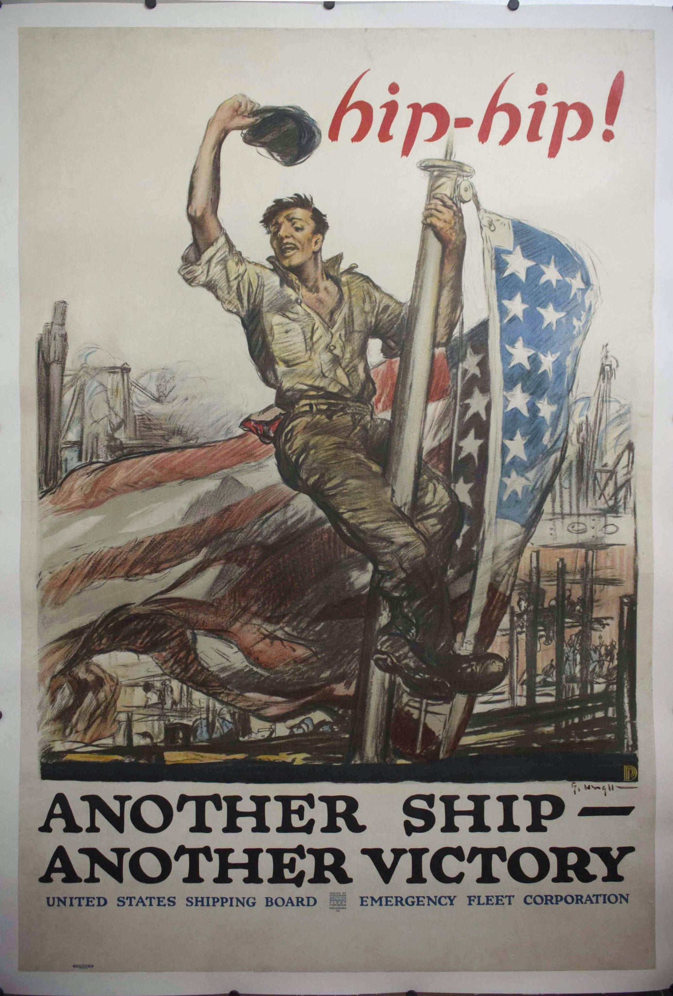 1918 hip-hip! Another Ship - Another Victory | United States Shipping Board