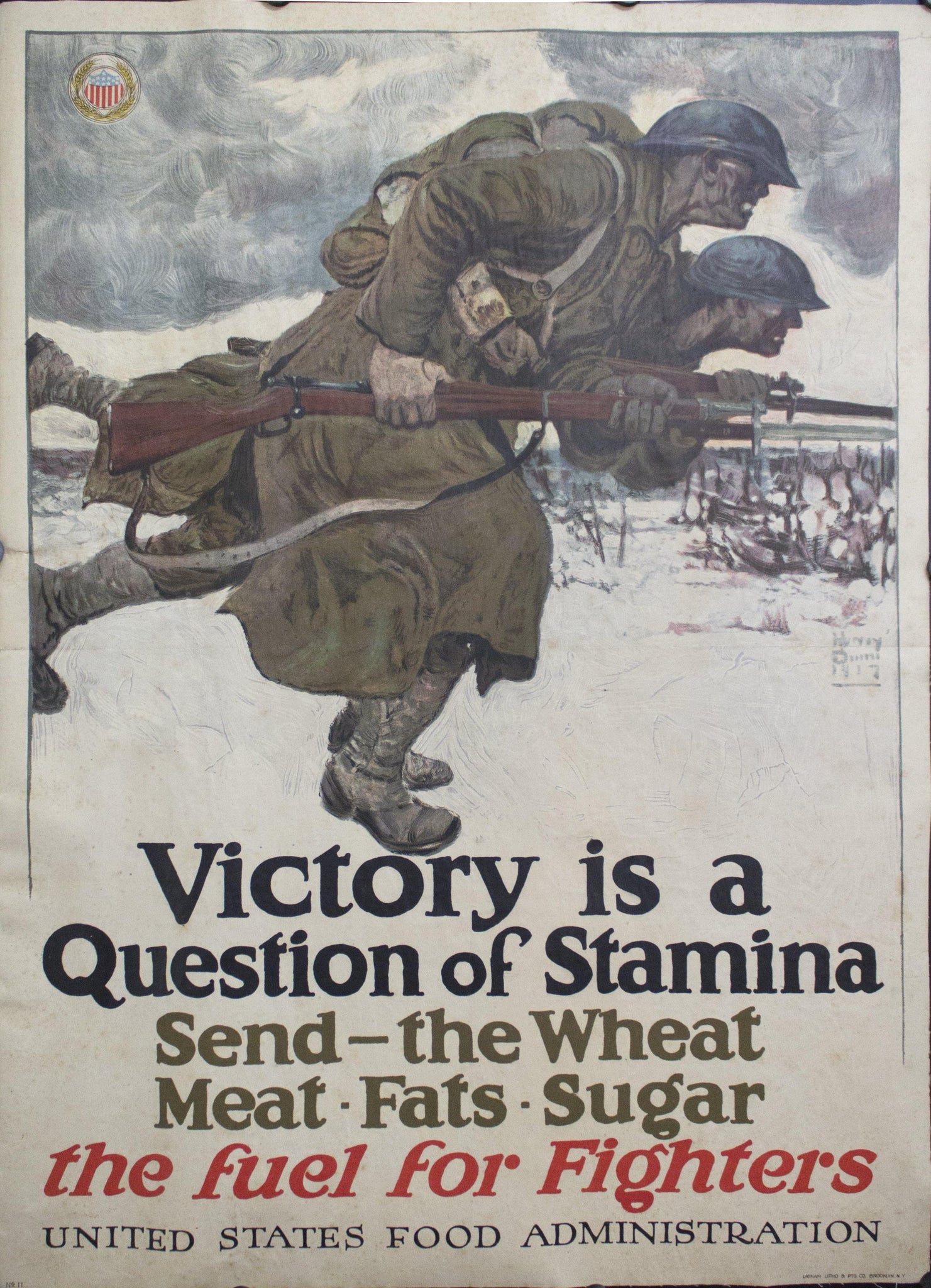 1917 Victory is a Question of Stamina | Send the Wheat Meat Fats Sugar | the fuel for Fighters