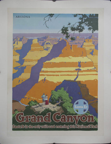 1949 Grand Canyon | Santa Fe is the only railroad entering this National Park | Arizona