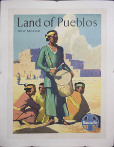 c. 1950 Land of Pueblos | New Mexico | Santa Fe