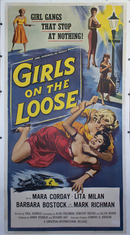 1958 Girls on the Loose - Golden Age Posters