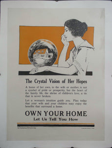 c. 1927 The Crystal Vision of Her Hopes | Own Your Home Let Us Tell You How