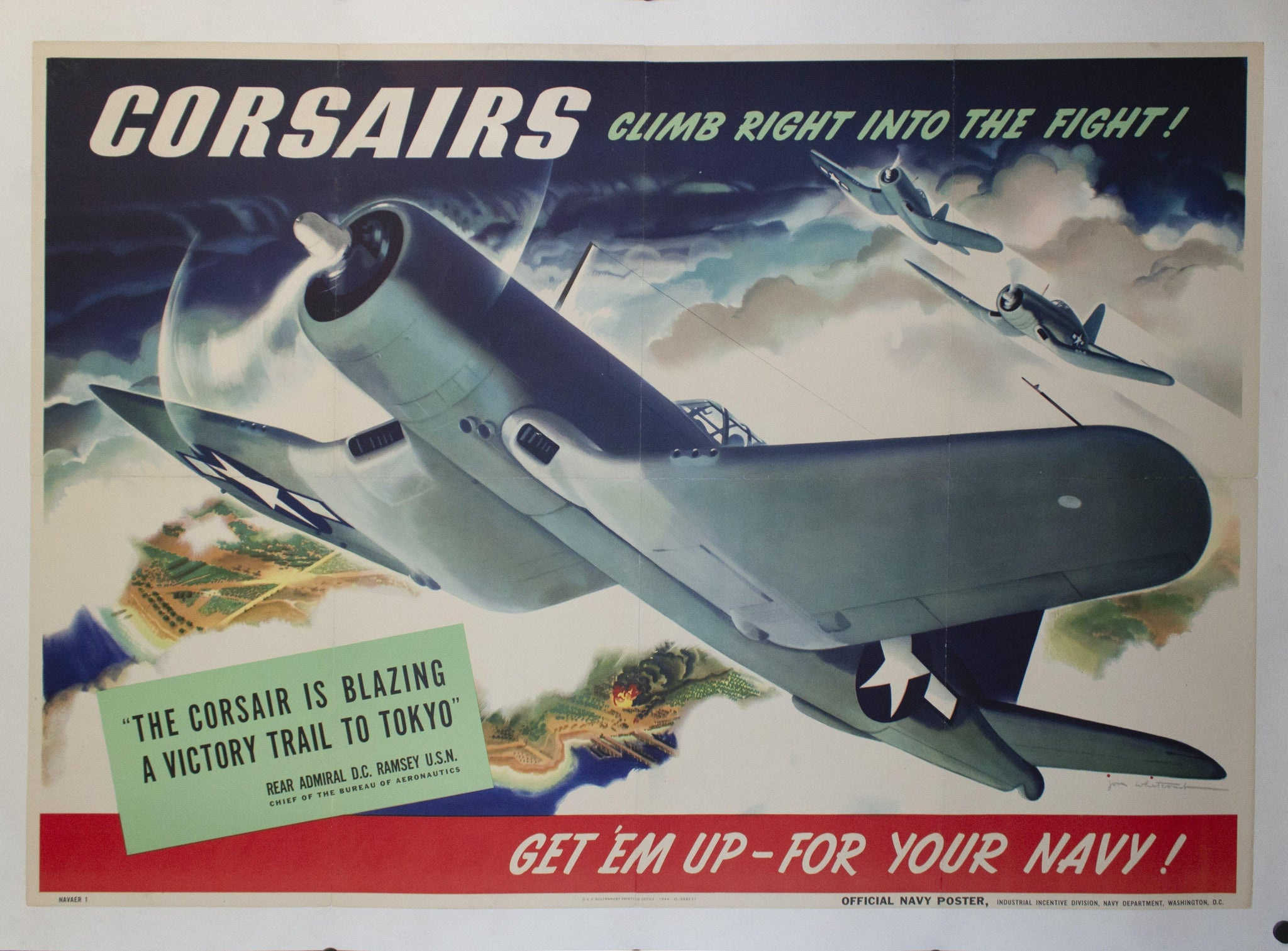 1944 Corsairs | Climb Right Into the Fight! | Get 'Em Up - For Your Navy! by Jon Whitcomb