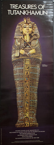 1976 Treasures of Tutankhamun Miniature Coffin Art Museum Gallery - Golden Age Posters