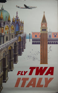 c. 1950 Fly TWA | Italy by David Klein