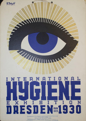 1930 International Hygiene Exhibition | Dresden May - Oct 1930 - Golden Age Posters