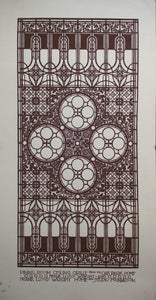c. 1980 Dining Room Ceiling Grille from the Oak Park Home - Golden Age Posters