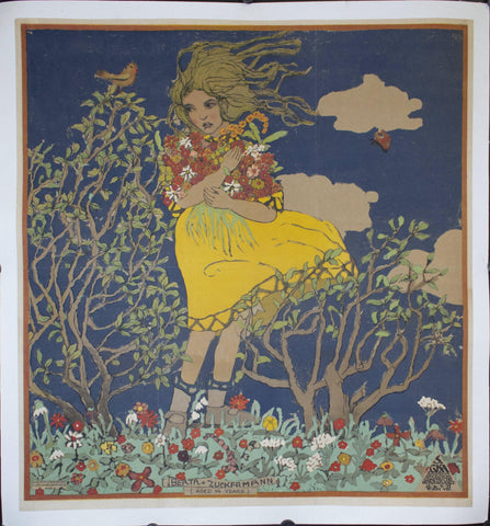 c. 1920 Berta Zuckermann by Franz Cizek - Golden Age Posters