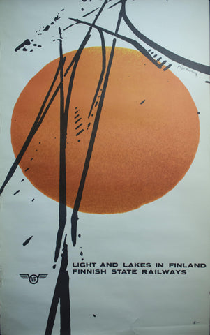 c. 1960 Light and Lakes in Finland | Finnish State Railways