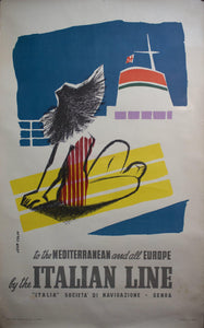 1957 To the Mediterranean and all Europe by the Italian Line