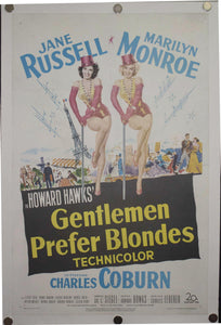 1953 Gentlemen Prefer Blondes - Golden Age Posters