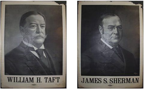 1907 William H Taft | James H Sherman | Lot of 2 Campaign Posters