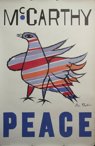 1968 Eugene McCarthy | Peace by Ben Shahn - Golden Age Posters